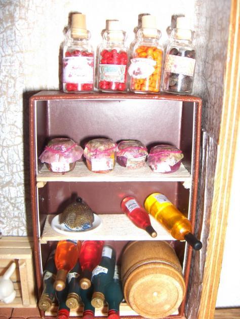 Réserves de bocaux et confitures