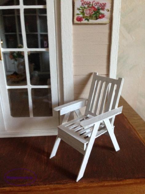 Chaise de jardin suivant le tuto de Jomini