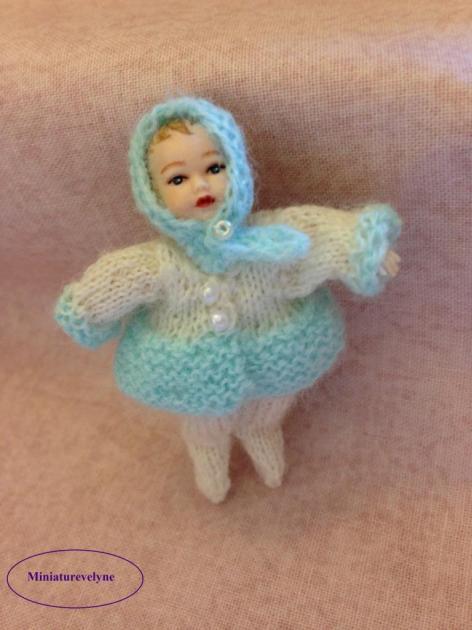 Ensemble manteau et collant pour bébé Heidi Ott de 5 cm