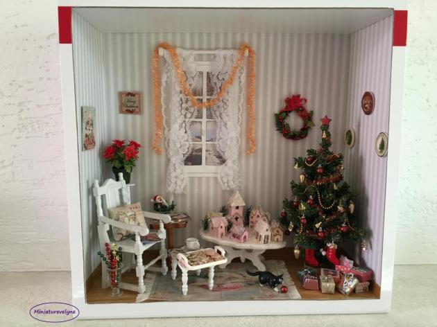 Salon de Noël Shabby Chic
